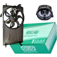 RADIATOR COOLING FAN WITH MOTOR FOR VOLVO C30 S40 MK2 V50 MW 1.6D 1.6D2 1.8 2.0