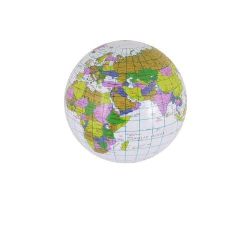 Inflatable Globe - 40cm | Labelled Blow Up Globe