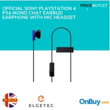 Official Sony Playstation 4 PS4 Mono Chat Earbud Earphone Mic Headset