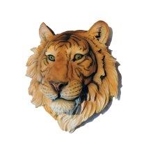 Large 3D Tiger Head wall plaque sculpture