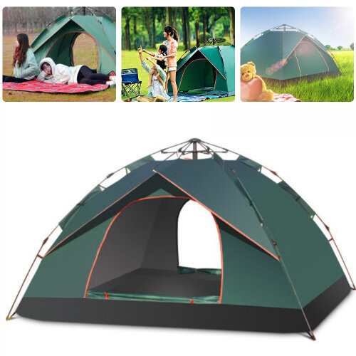 2-3Outdoor Persons Double Large Layer Instant Auto Pop Up Camping Tent