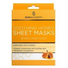Skin Academy Soothing Honey Sheet Masks - 2 Masks