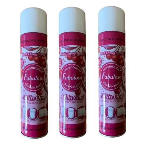 Fabulosa All in One Disinfectant Spray Black Cherry Merlot 3 Bottles