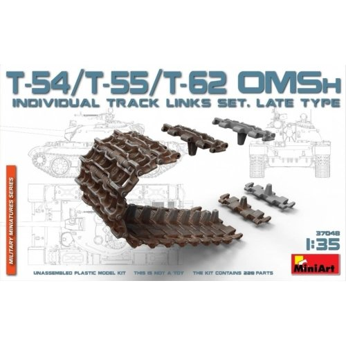 Miniart 1:35 - T-54/T-55/T-62OMSh Track Link Set. Late Type