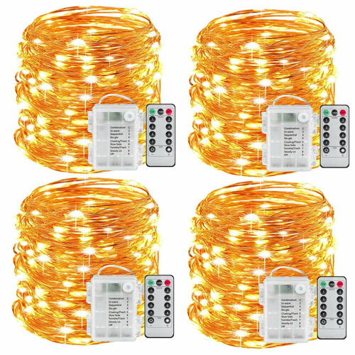 Festival Copper String Light 10m Remote Control Timing Battery USB