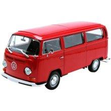 Welly 22472Red Model Camper Van 1: 24Scale VW T21972Metal, Red