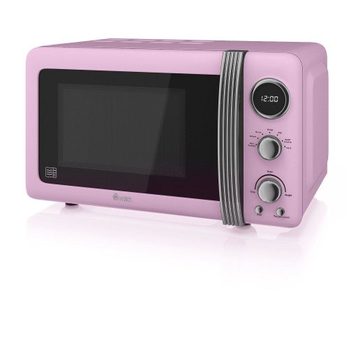 Swan Products Digital Microwave 20Litre 800W - Pink (SM22030PN)
