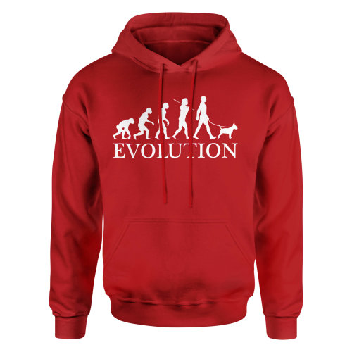 (Red, Large) Candymix - Bull Terrier Evolution - Unisex Adult Hoodie