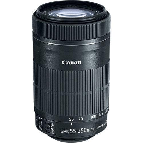 CANON EF-S 55-250mm F4-5.6 IS STM Black (White Box)