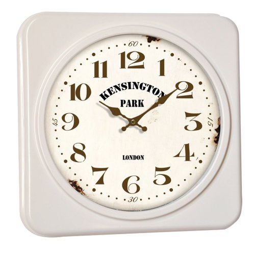 Kensington Park Square Wall Clock, Cream