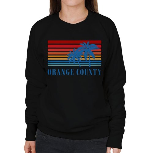 Orange County Retro 70s Sunset Women's Sweatshirt