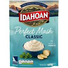 Idahoan Potato Mash, Gluten Free Vegetarian Cooks in 1 Minute Pantry Food Classic Bulk Pack of 12