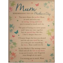 Memorial Grave Card Mum Remembering You On Mother's Day 16.5cm x 12cm