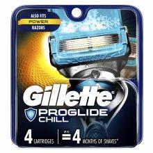 Gillette ProGlide Chill Men's Razor Blades, 4 Blade Refills