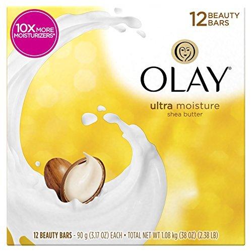 Olay Moisture Outlast Ultra Moisture Beauty Bar with Shea Butter , 3.17 Oz,Pack of 12