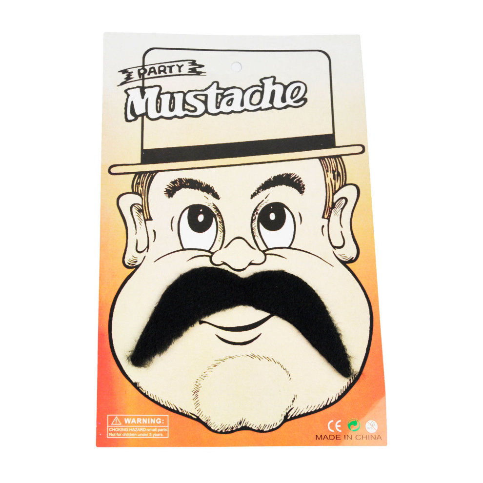 Stick On Fancy Dress Fake Moustaches Tash Mustache Stag Hen Party Pack Black