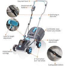 Swift 40V 32cm Cordless Digital Compact Lawn Mower