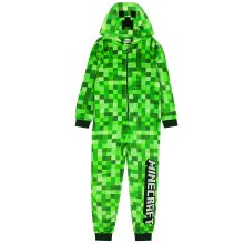 Minecraft Creeper Onesie For Boys & Girls   Kids Green Soft Pixelated Sleepsuit with Creeper Face Hood   Children's Gamer All In One Pyjamas Gift