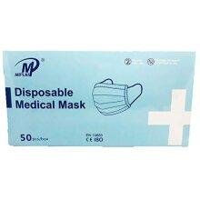 MIPLNI Disposable Non-sterile Medical Face Mask 3-ply Type II Face Mask - 50pcs - UK STOCK