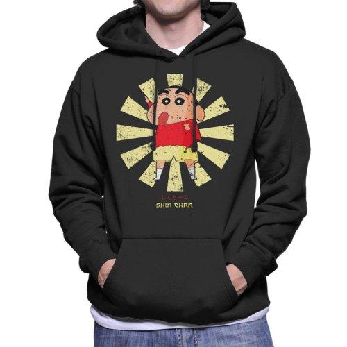 Crayon Shin Chan Retro Japanese Men's Hooded Sweatshirt