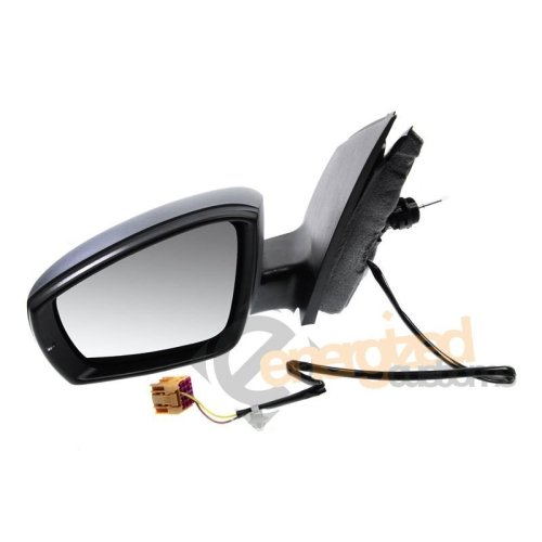 Vw Polo Mk5 10/2009-> Cable with Indicator Black Wing Door Mirror Passenger Side