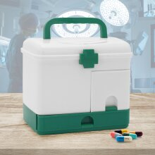 Portable First Aid Box Emergency Case Safe Lockable Medicine Storage