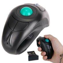 USB Wireless PC Laptop Finger HandHeld Trackball Mouse w/ Laser Pointer Gaming