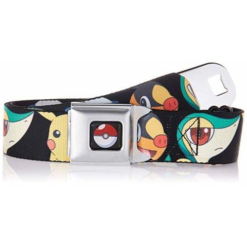 Seatbelt Belt - Pokemon - V.117 Adj 24-38' Mesh New pka-wpk021