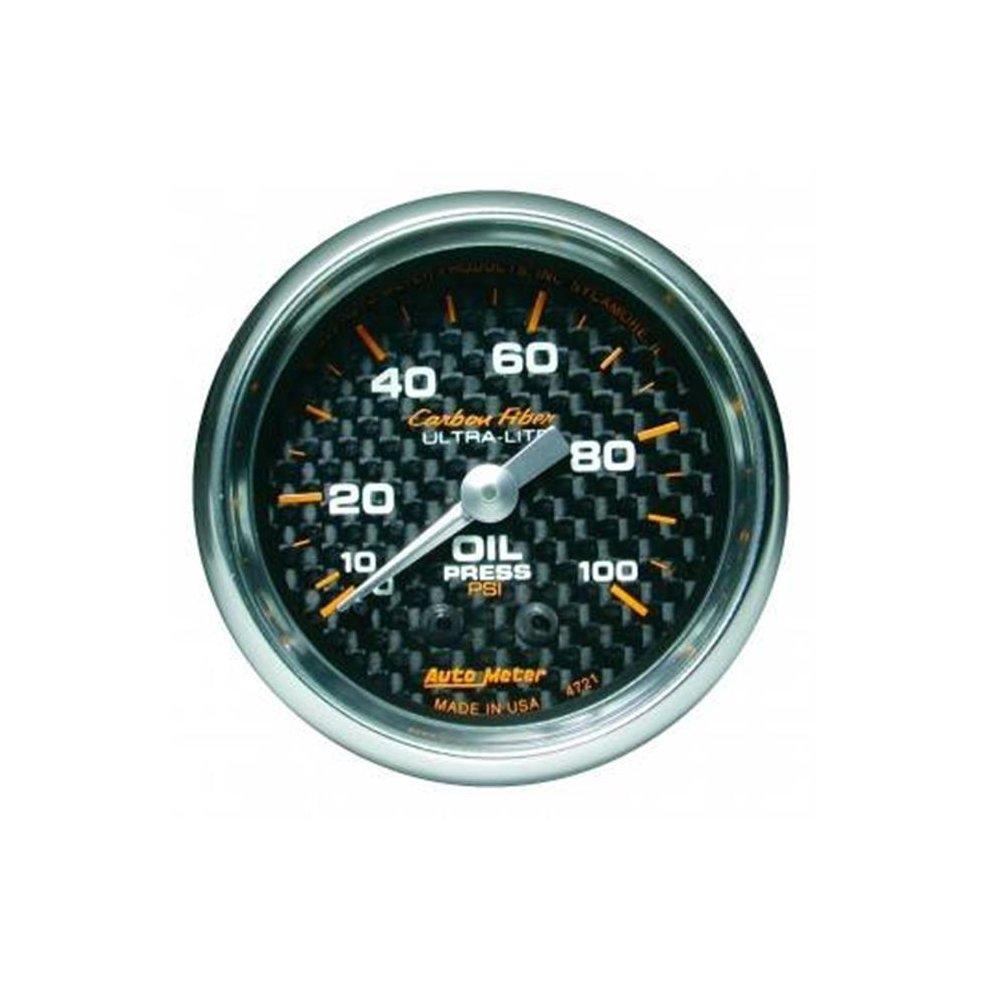 Auto Meter 4737 Carbon Fiber Electric Water Temperature Gauge
