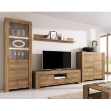 Oak Riviera Living Room Furniture Full Set