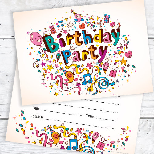 Outstanding Birthday Party Invitations Bright And Fun Invites Ready To Personalised Birthday Cards Beptaeletsinfo