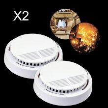 2x Fire Alarm Extended Battery Life Smoke Detector Sensor