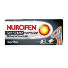 Nurofen Joint & Back Pain Relief 200mg 16 Soft Capsules