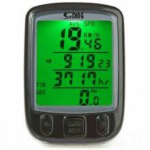 Wireless Bicycle Cycle Computer Waterproof LCD Speedometer Bike MTB Odometer Cycling
