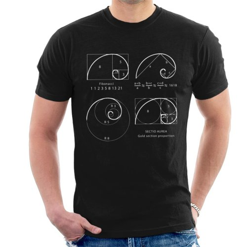 Maths And Science Fibonacci Spiral Men's T-Shirt
