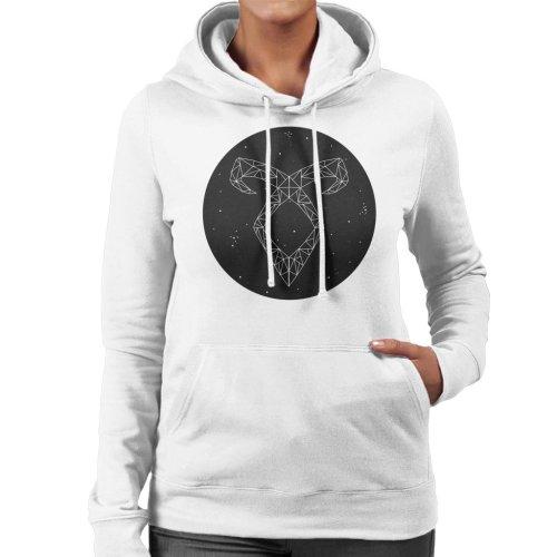 (X-Large, White) Angel Rune Shadowhunters Women's Hooded Sweatshirt