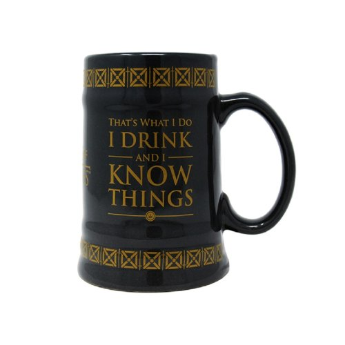 Game of Thrones I Drink And I Know Things Ceramic Stein Mug