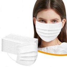 50 White Disposable Face Masks