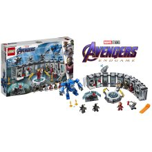 LEGO 76125 Super Heroes Marvel Avengers Iron Man Hall of Armor, Modular Lab with 6 Marvel Universe Minifigures, Playset