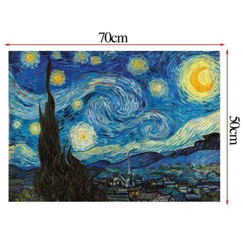 (#12 Starry sky, 70*50cm) 1000 Pieces Jigsaw Puzzles Educational Toy Decoration Puzzle For Adult Kids