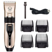 Pet Electric Clipper Dog Grooming Shaver Trimmer Rechargeable Low-noise USB