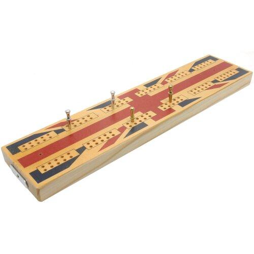 Brimtoy Union Jack wooden cribbage board