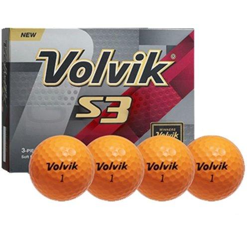 Volvik S3 Golf Balls Orange 1 Dozen