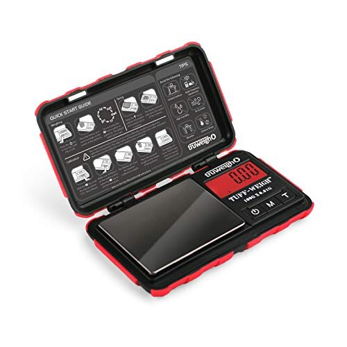 TUFF WEIGH Digital Mini Scale 100g x 0 01g Black Red