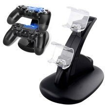 For PlayStation PS4 Dual Controller LED Charger Dock Charging Stand