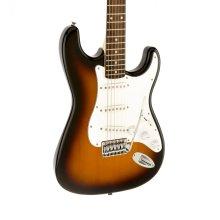 Fender Squier Affinity Stratocaster Electric Guitar, Brown Sunburst, Laurel