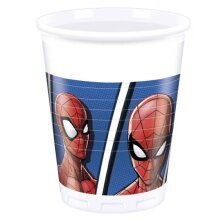 party cups Spider-Man200 ml 8 pieces white
