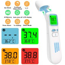 Infrared No-Contact Ear Thermometers Digital Forehead Thermometer