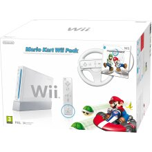 Nintendo Wii Console (White) with Mario Kart - Used