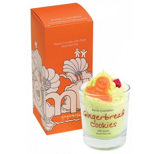 Bomb Cosmetics Gingerbread Cookies Piped Glass Scented Candle